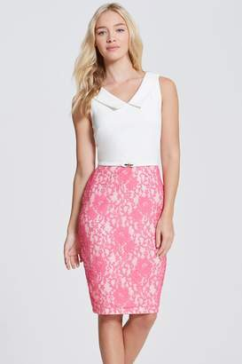 Paper Dolls Pink Lace Dress with Collar
