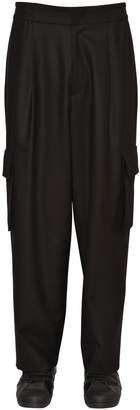 Juun.J Wool Flannel Pants W/ Cargo Pockets