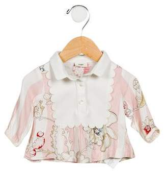 Fendi Girls' Floral Print Top