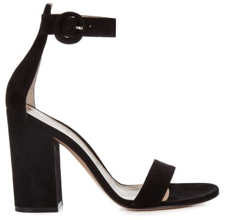 Gianvito Rossi Versilia 100 Suede Sandals - Womens - Black