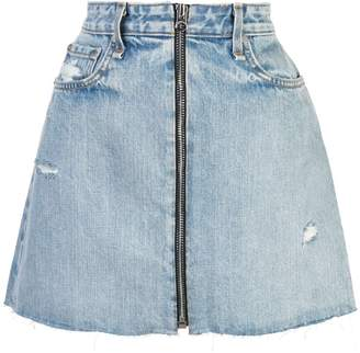 Rag & Bone Jean distressed denim skirt