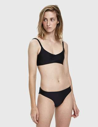 Nu Swim High Cut Swim Bottom in Black