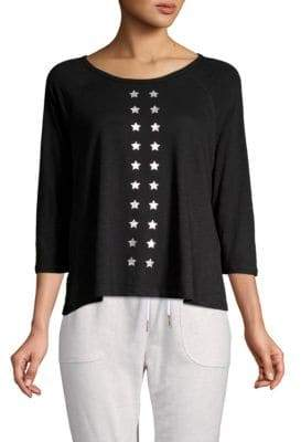 Nanette Lepore Graphic Raglan Sleeve Top