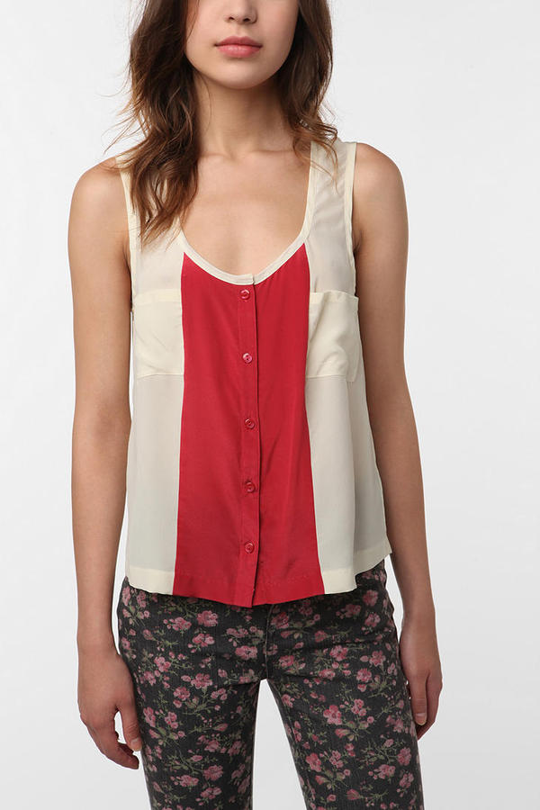 Cooperative Colorblock Silk Tank Top