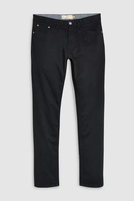 Next Mens Navy Slim Fit Stretch Five Pocket Trousers