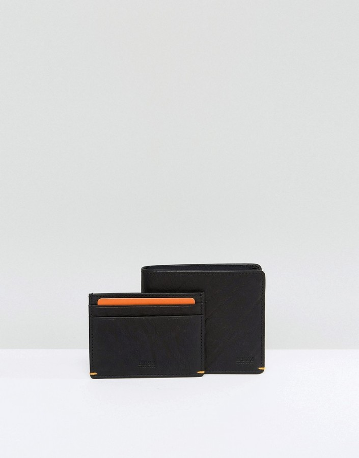 Hugo BossHUGO by Hugo Boss Leather Wallet Gift Set Black