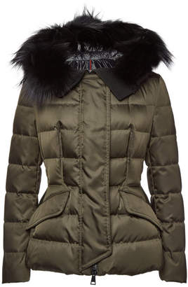 e172e9805592 Moncler Sterne Down Jacket with Fur-Trimmed Hood