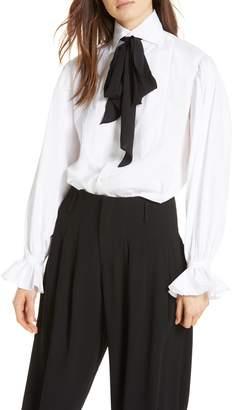Polo Ralph Lauren Tie Neck Cotton Blouse