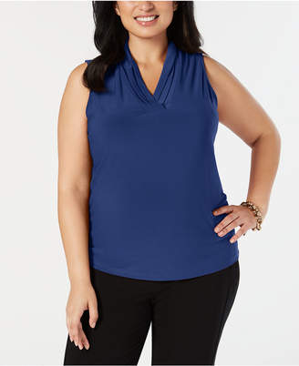 Anne Klein Plus Size Pleated Shell