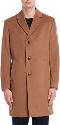 Kenneth Cole Reaction Camel Raburn Overcoat