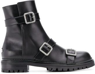 Jimmy Choo Hank jewel buckle boots