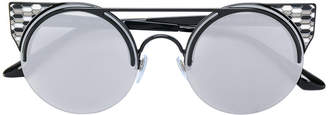 Bulgari enamelled round sunglasses