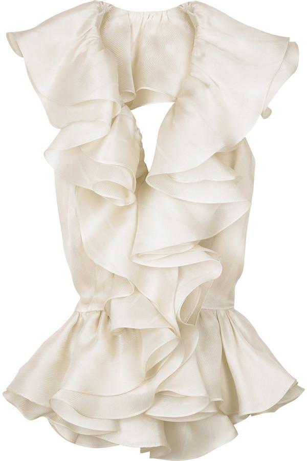 Bill Blass Flamenco backless blouse