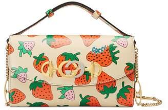 Gucci Zumi Strawberry print mini bag