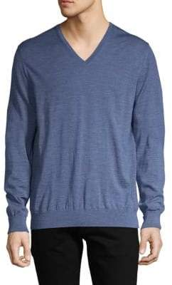 Dunhill V-Neck Wool Sweater