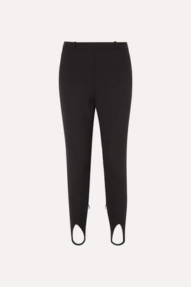 Givenchy High-rise Wool Tapered Stirrup Pants - Black