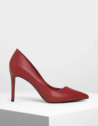 Charles & Keith Asymmetrical Cut Stiletto Pumps