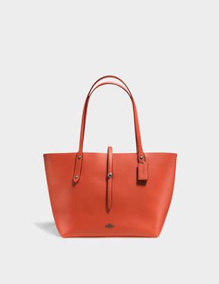 Coach Market Tote Bag in Vermillon and Metallic Brick Calfskin