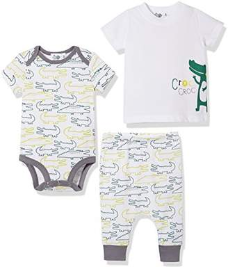 Silly Spples Unisex Baby Cotton Blend 3-Piece Short-Sleeve Bodysuit Onesies