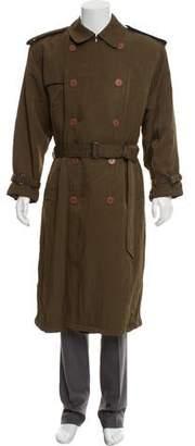 Giorgio Armani Double-Breasted Trench Coat