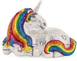Judith Leiber Couture Unicorn Orania Crystal Clutch Bag