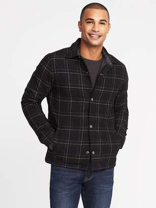 Old Navy Plaid Brushed Twill Shirt Jacket for Men