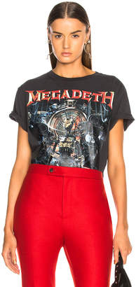 R 13 Distressed Megadeth Tee