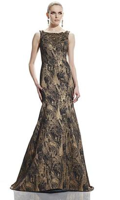 Theia - Embellished Bateau Neck Gown 882562 $459 thestylecure.com