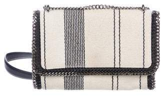 Stella McCartney Stripe Linen Falabella Crossbody Bag