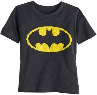 Justice Toddler Boy Jumping Beans DC Comics Batman Scribble Logo Graphic Tee