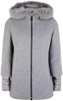 Cinzia Rocca Wool Down Insert Coat