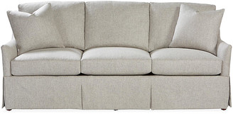 Massoud Furniture Cyrus Skirted Sofa - Ash