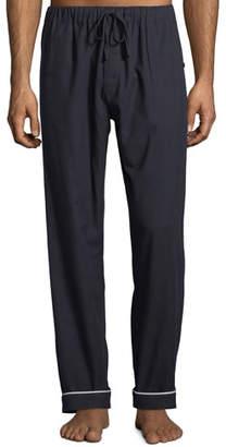 Desmond & Dempsey Men's Contrast-Piping Lounge Pants