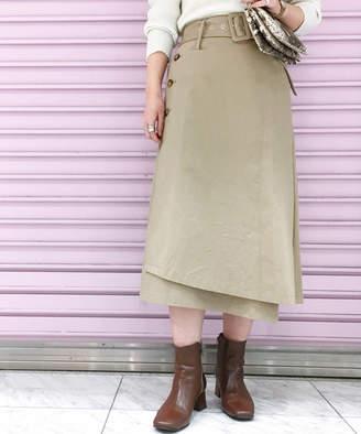 Doudou (ドゥドゥ) - ドゥドゥ ベルト付ラップタイトスカート