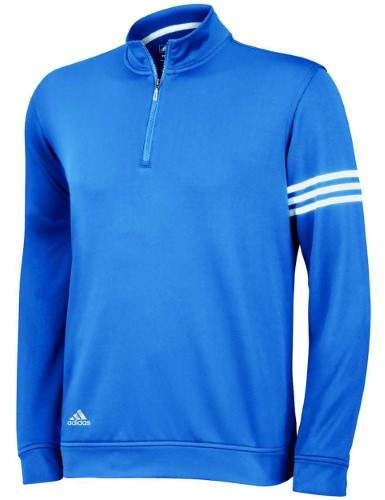 Adidas Golf Men's ClimaLite 3-Stripe Pullover, Medium Oasis Blue
