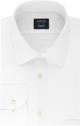 Arrow Big & Tall Regular-Fit Stretch Spread-Collar Dress Shirt