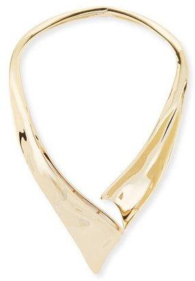 Alexis Bittar Liquid Golden Collar Necklace $395 thestylecure.com