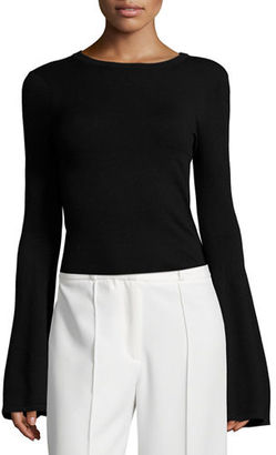 Milly Bell-Sleeve Pullover Top $275 thestylecure.com