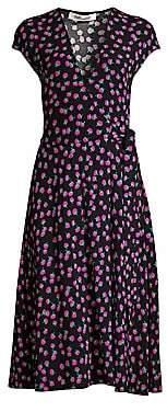 Diane von Furstenberg Women's Goldie Dandelion Print Wrap Dress - Size 0