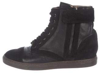 Common Projects Woman by Wedge High-Top Sneakers