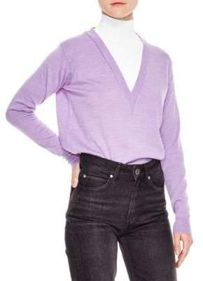 Sandro Wool Long Sleeve Sweater