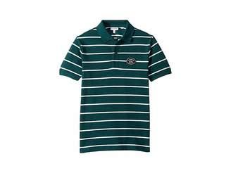 Lacoste Kids Short Sleeve Striped Heritage Badge Pique Polo (Infant/Toddler/Little Kids/Big Kids)