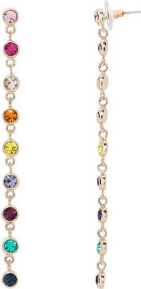Kenneth Jay Lane Rainbow Crystal Drop Down Earrings