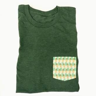 Blade + Blue Green Hula Girl Print Pocket Tee