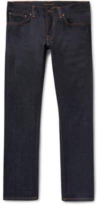 Nudie Jeans Grim Tim Slim-Fit Organic Stretch-Denim Jeans