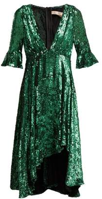 Maria Lucia Hohan Arielle Sequinned Tulle Dress - Womens - Green