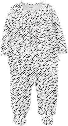 Carter's Baby Girl Heart Print Sleep & Play