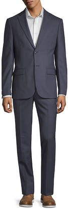 John Varvatos Slim Fit Wool Suit With Flat Front Pant