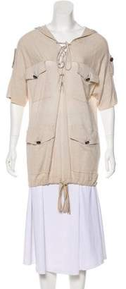3.1 Phillip Lim Cashmere Short Sleeve Hooded Top w/ Tags