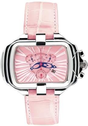 Prima Donna Gio Monaco Women's PrimaDonna Rectangular Alligator Chronograph Watch 287-A